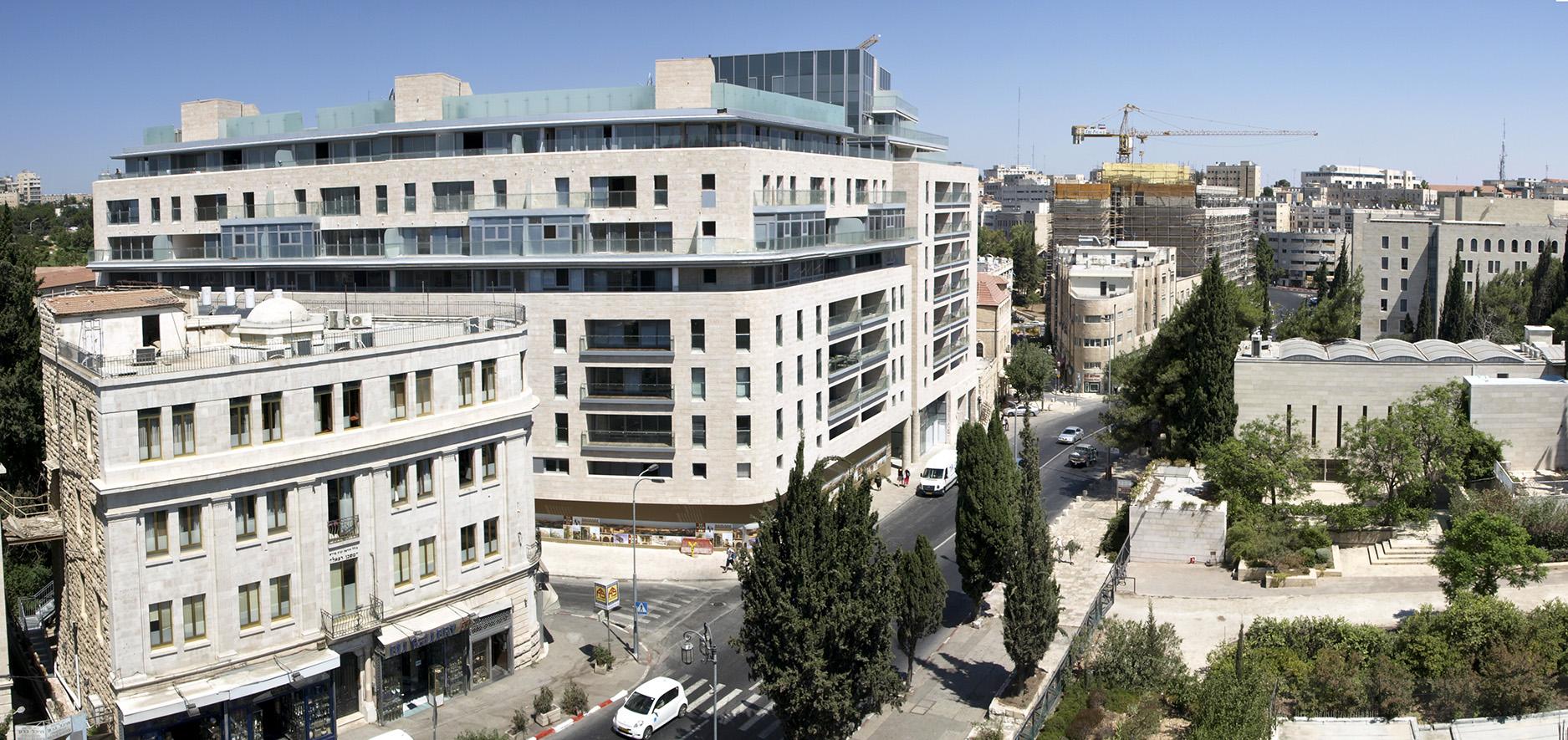 דוד המלך פינת הס ירושלים תכנון אדריכלי קולקר אפשטין